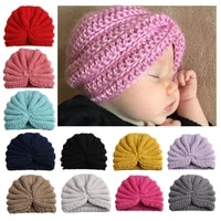 sweet candy color baby hat for boys girls knit baby beanie cap spring newborn infant bonnet hats photo props