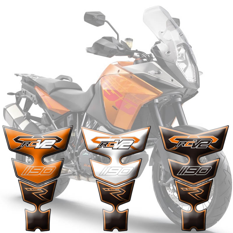 Защитная накладка на бак мотоцикла Наклейка с рыбьей костью 3D накладка на бак для KTM RC8R 1190 V2 08-15 2009 2010 2011 2012 2013 2014