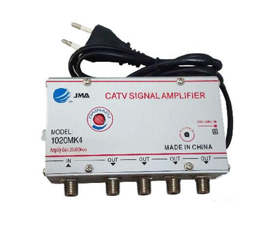 Усилитель сигнала антенны, 4 канала, 45-860 МГц, 220 В