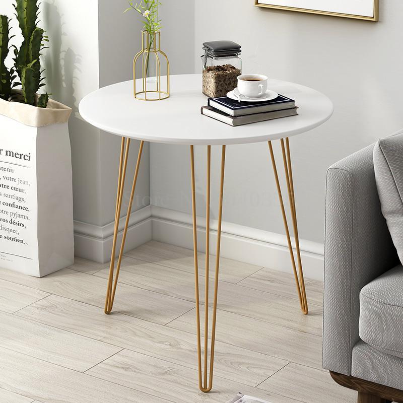 Nordic sofá lateral sala de estar mesa ferro forjado simples mesa cabeceira mesa redonda varanda pequena mesa café