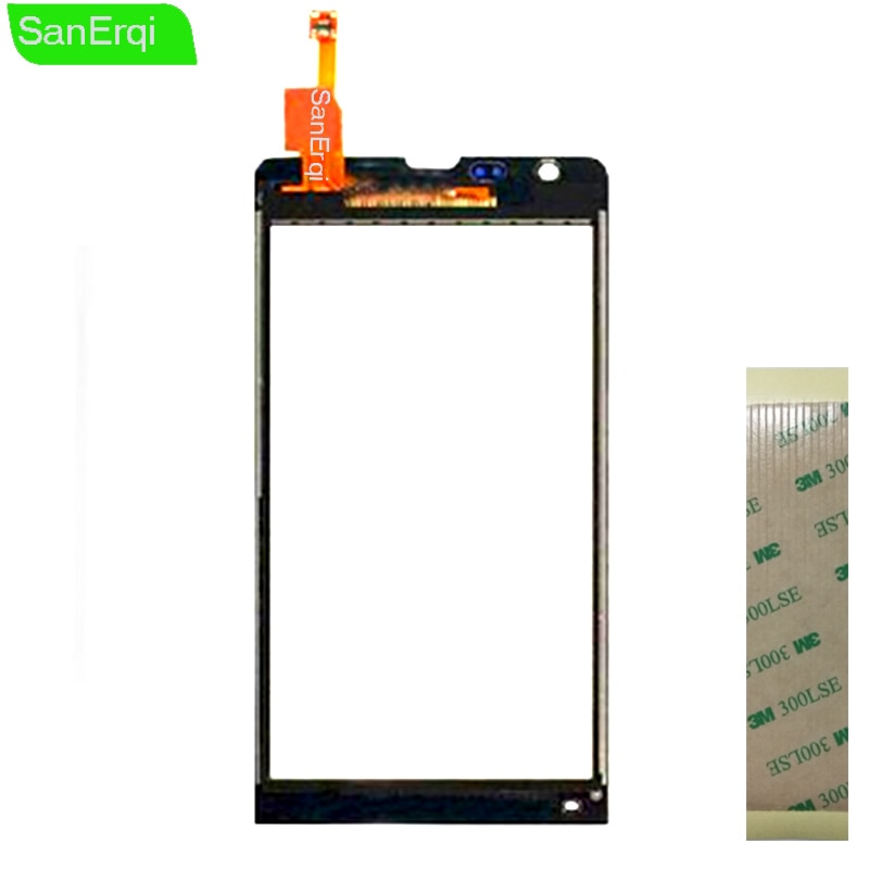 "Para Sony Xperia SP C5302 C5303 C5306 M35h pantalla táctil digitalizador Lente de Cristal Sensor Panel táctil 4,6 ""SanErqi"