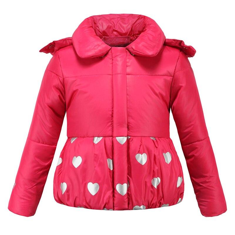 Зимние куртки для девочек 3-8 лет, Модная парка, пальто, зимняя теплая куртка для девочек, детский зимний комбинезон с капюшоном