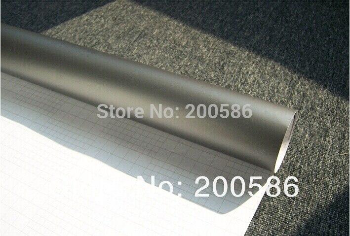 Gunmetal cinza fosco envoltório de vinil, envoltório anracita carro com bolha de ar, livre, cinza, metálico, fosco, filme, cobertura para estilizar o carro, 1.52x3 0m/rolo