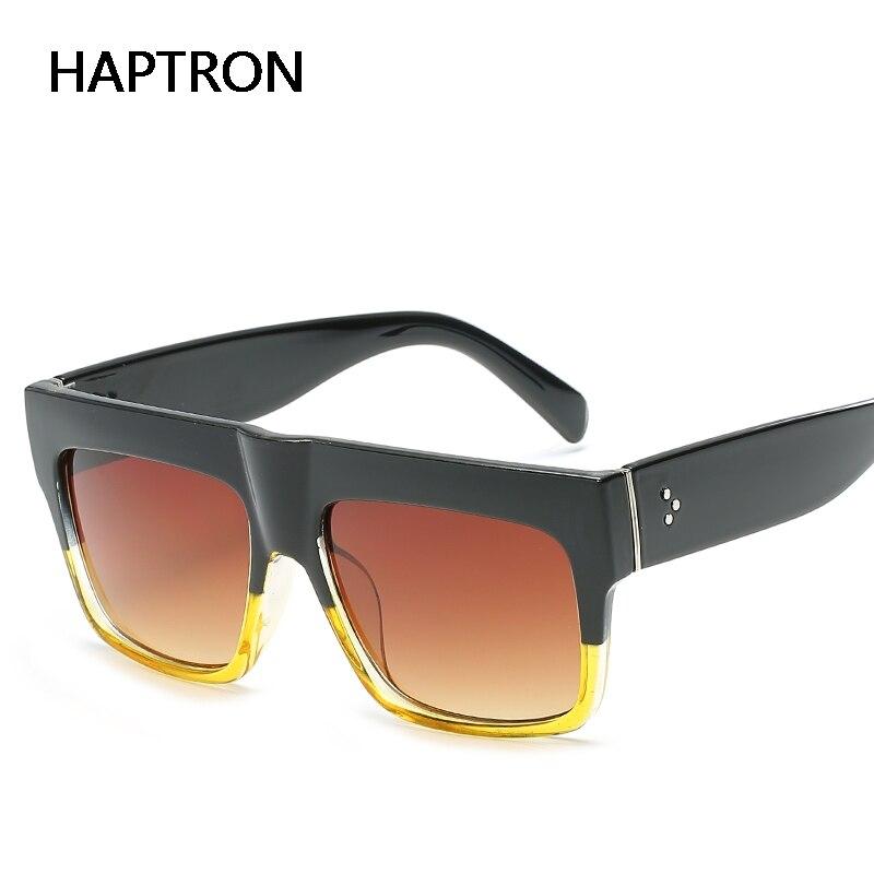 HAPTRON vendas Quente Oversized Praça Quadros Lentes de Revestimento Das Mulheres Óculos de Sol da Marca Óculos de Sol oculos gafas de sol feminino