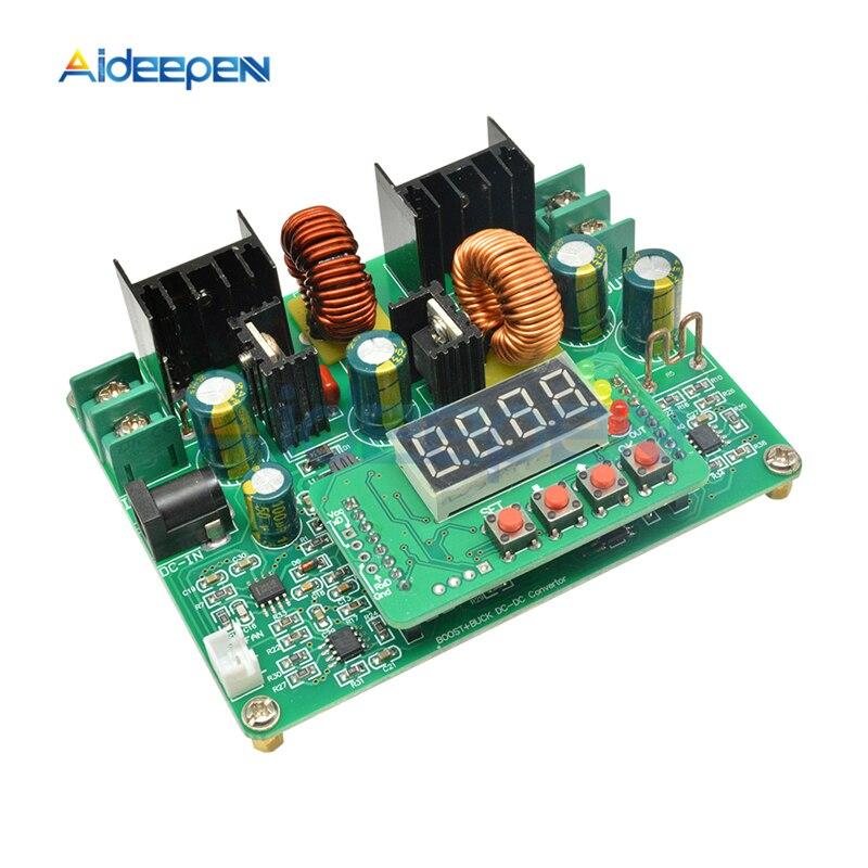 Módulo de aumento de voltaje DC-DC Digital 2 en 1 DC 10 V-40 V a -DC 0-38V 0-8A a 0-6A ajustable Boost Buck convertidor