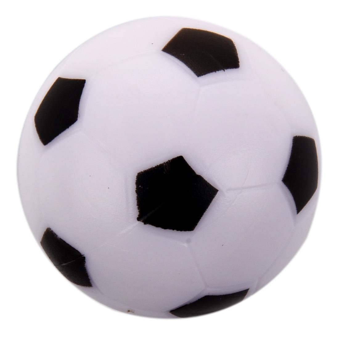 Pequeña pelota de fútbol pelota de mesa de plástico duro Homo logue niños juguete negro blanco