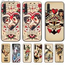 Чехол для мобильного телефона Sailor Jerry Tattoo 06 для Huawei P Smart P30 P8 P9 P10 P20 Lite Pro Cover