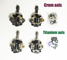 Titanium/Crom spindel axis MTB of rekken road fiets clipless als XTRR-M980 mtb SPD pedaal