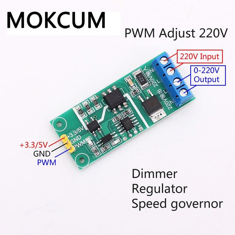 AC 220V PWM Контроллер регулятор оборотов тиристорный изолирующий модуль затемняющий напряжения 1Hz ~ 500Hz регулятор двигателя Модуль регулирования скорости