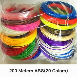 3D Printer Filament 3D Pen ABS 200 Meters 20 Colors 3D Printer Pen Filament Threads Wire Birthday Gift 1.75mm ABS 3D Filament