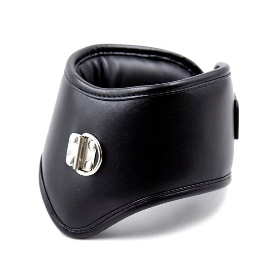 Черный корсет из мягкой кожи с губкой, ошейник для осанки, БДСМ ошейник для связывания, Эротическое ожерелье верности, секс-игрушки для пар