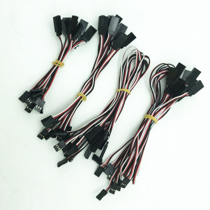 10 шт./лот, Удлинительный кабель с сервоприводом 100 мм/150 мм/300 мм/500 мм для радиоуправляемого вертолета, дрона