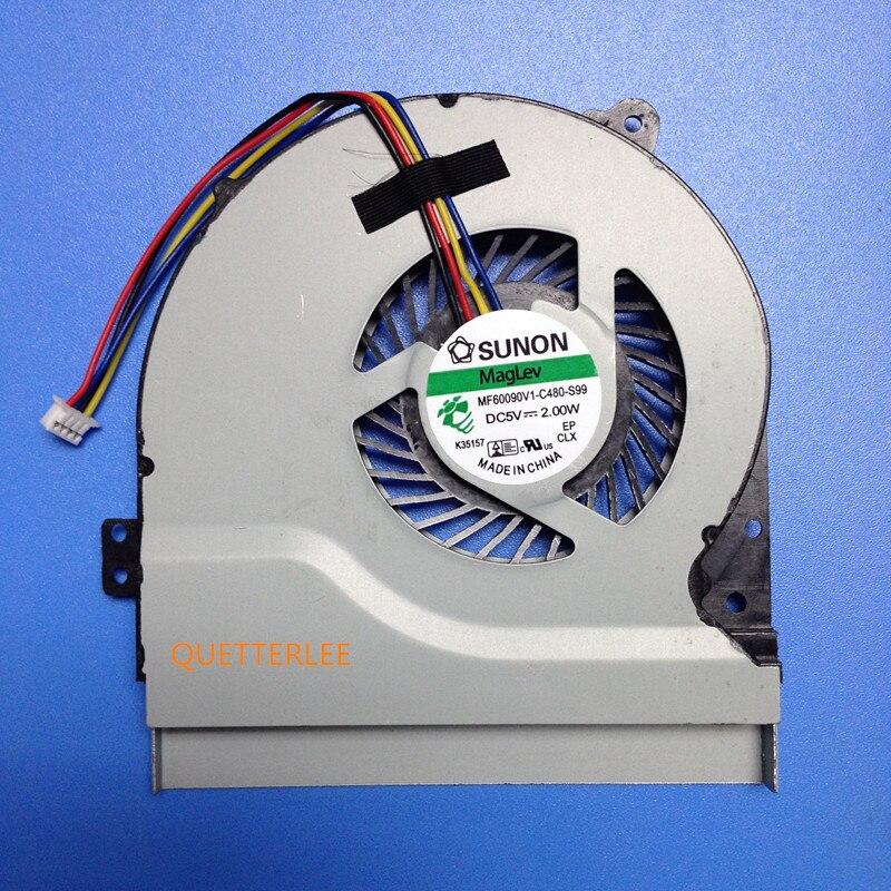 100% novo ventilador de refrigeração da cpu para asus x550 x550v x550c x550vc x450 x450ca x450v x450c a450c k552v a550v MF75070V1-C090-S9A