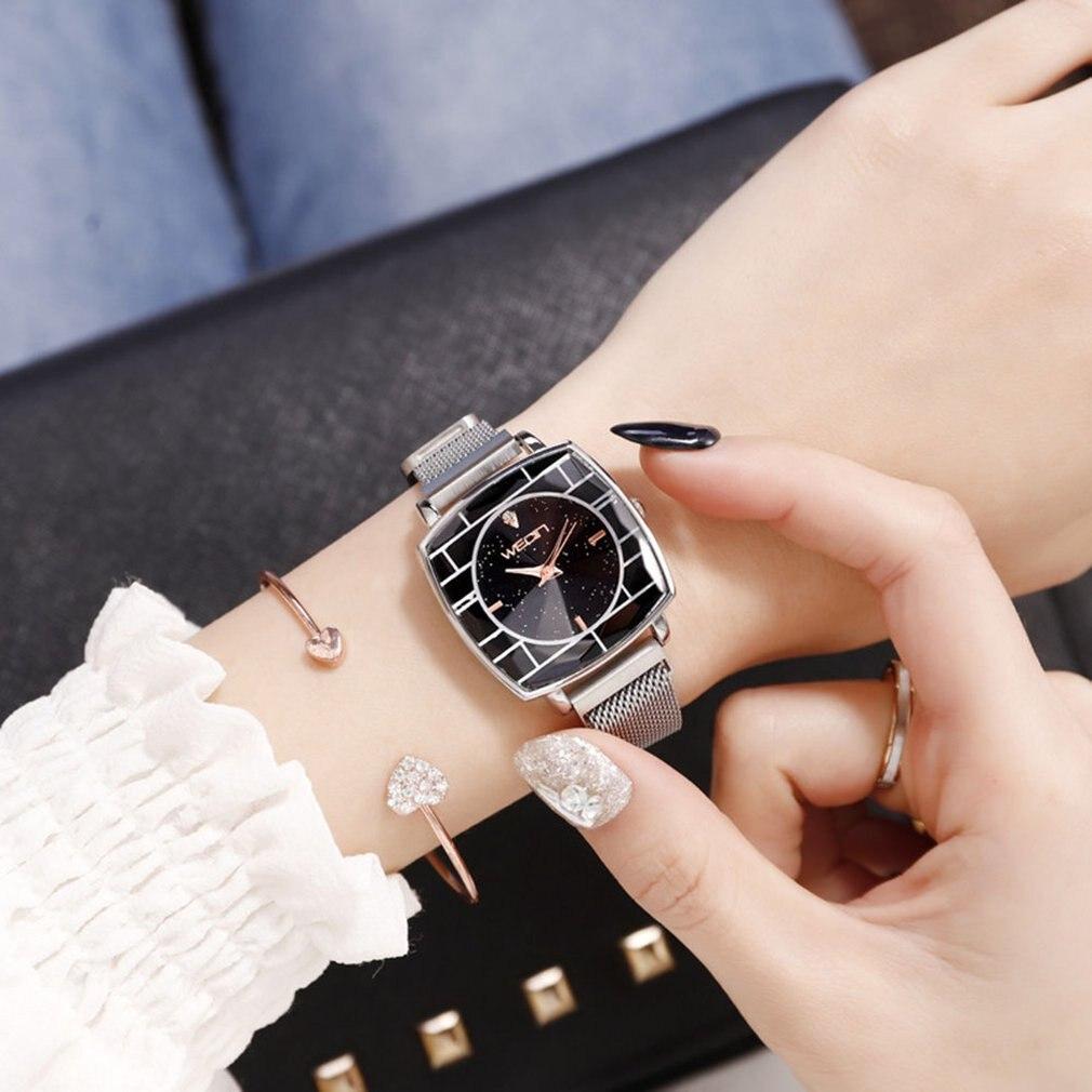Square Diamond Angle New Starry Sky Watch Ladies Fashion Trend Students Korean Women's Watch