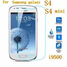 Pour Samsung galaxy S4 mini étui S IV Film de protection écran verre trempé G9200 i9500 I9195 I537 i337 I9505G I9190 couverture