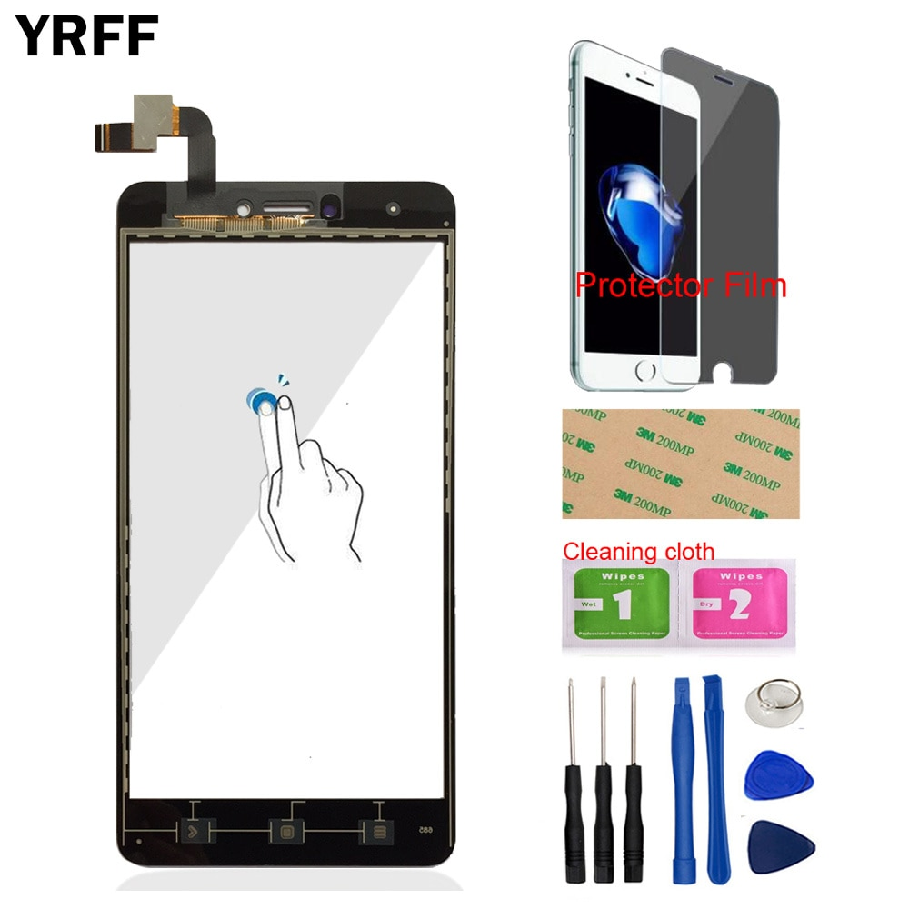 Mobile Touch Screen Digitizer Panel Glass For Xiaomi Redmi Note 4X Touch Screen Sensor Phone Front Glass Protector Film Adhesive недорого