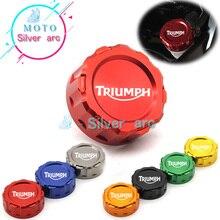 오토바이 CNC 리어 브레이크 저수지 커버 캡 TRIUMPH DAYTONA 675/675 R SPEED TRIPLE 1050/1050 R STREET TRIPLE R TIGER 800