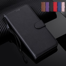 Solid Color Wallet Flip Case For Huawei P30 P20 Pro P10 P8 P9 Lite mini Mate 10 20 X Nova 4 3 3i 2i Honor 10 Lite Back Cover