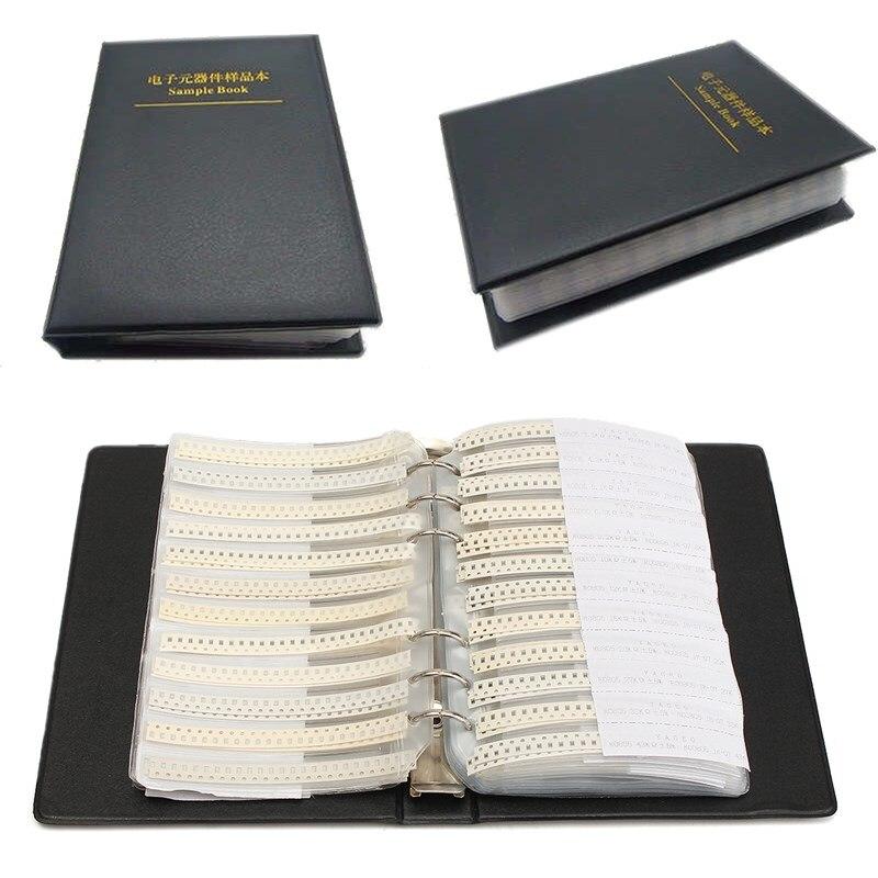 Nuevo 1 ud. 0805 SMD libro de muestra 5% 63 valores 3025 Uds YAGEO juego surtido de resistencias y 17 valores 700 Uds. Condensador muRata Set en venta