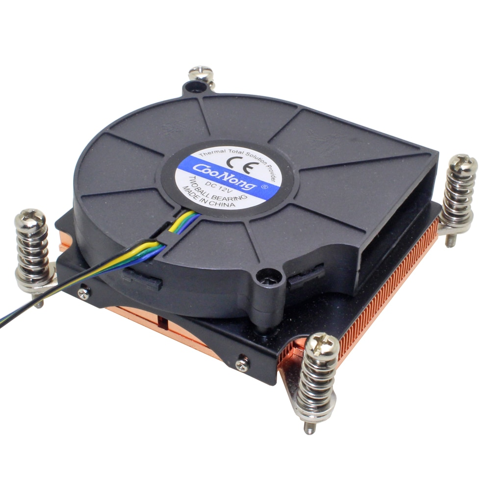Ventilador enfriador de CPU para servidor 1U, disipador térmico de cobre para Intel Xeon LGA 1366 1356, estación de trabajo Industrial, refrigeración activa para ordenador