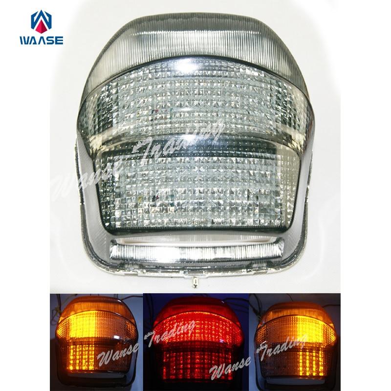 Waase-مصباح الإشارة مع ضوء Led مدمج للفرامل والانعطاف لهوندا بلاك بيرد CBR1100XX ، 1999 ، 2000 ، 2001 ، 2002 ، 2003 ، 2004-2006