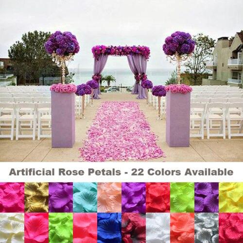 1000 Uds pétalos de rosa de seda para Boda nupcial boda cesta de decoración de flores falsas