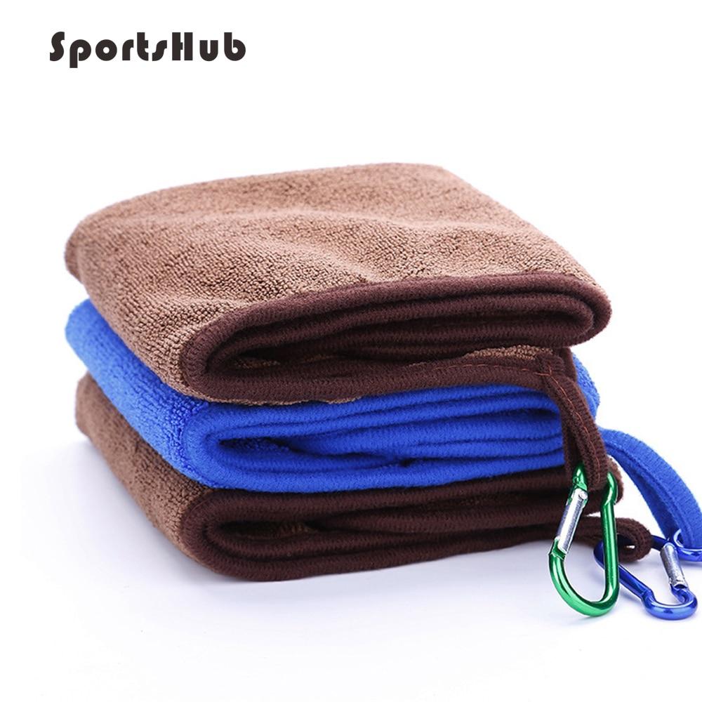 SPORTSHUB, 1 pieza, toalla de pesca de algodón grueso con hebilla, absorbente antiadherente, toalla deportiva al aire libre para senderismo escalada NR0118