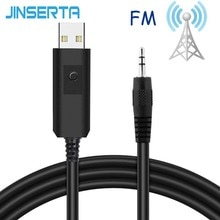 JINSERTA 3,5mm FM Transmitter Auto Kit Stereo Audio-Sender Kabel Für Kopfhörer TV PC DVD