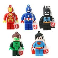 Nieuwe Batman USB Flash Drive Nieuwe Hot PenDrive Captain America Super hero minions pen drive 4 gb 8 gb 16 gb 32 gb 64 gb cartoon usb 2.0