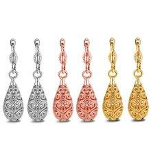 Mode or blanc luxe boucle doreille pour femmes fille Rose or couleur vide fleur longues boucles doreilles bijoux en gros