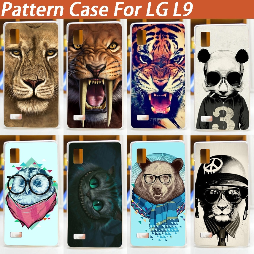 colorful tiger lion bear dog design DIY mobile phone protective case hard Back cover print case for LG Optimus L9 P760 P765