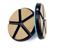 Tampons de polissage de plancher en pierre de disque de meulage de diamant de liaison de résine en céramique de 3 pouces 80mm pour le béton de granit de marbre
