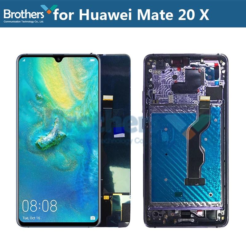 شاشة LCD لهواوي ماتي 20 X LCD عرض لهواوي ماتي 20 X LCD الجمعية شاشة تعمل باللمس محول الأرقام استبدال الهاتف اختبار أعلى