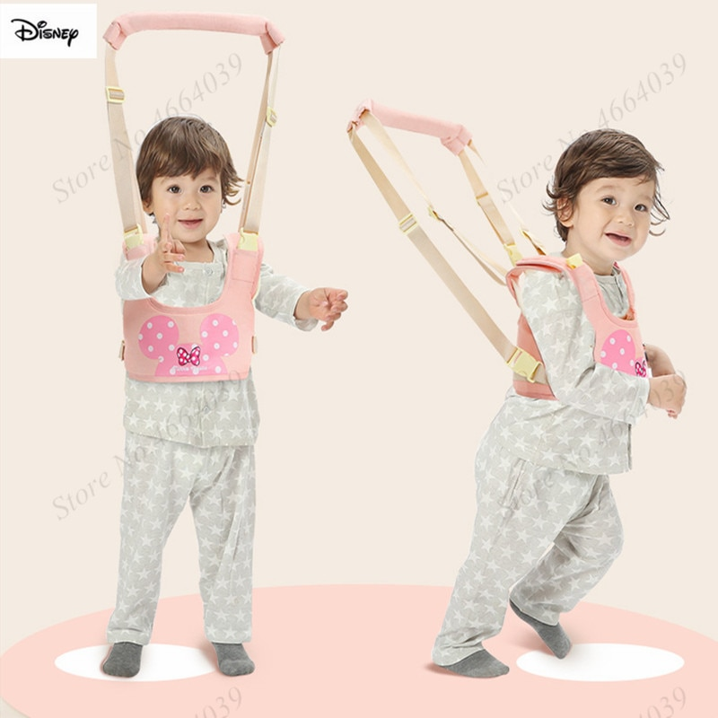 Arnés de bebé de Disney, correas de mochila auxiliar para niños, correa de aprendizaje, cinturón para caminar para bebé, correa para niños de 0 a 36 meses