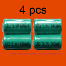 4 x Rechargeable CR2 CR-2 15270 3.0 v Li-ion Batterie
