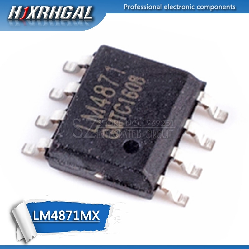 10pcs LM4871MX SOP8 LM4871 SOP 4871 3W Áudio Ampli
