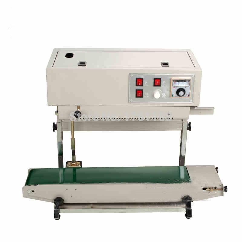 FR-900V العمودي ختم آلة ل حقيبة بلاستيكية شعبية السدادة آلة لحام ل السائل أو لصق حزمة قادرة طباعة تاريخ 1 قطعة