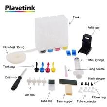 Plavetink 4 Couleur Universel Réservoir Dencre CISS Pour HP 121 122 123 301 302 304 300 21 22 140 141 650 62 901 XL Imprimante cartouche dencre