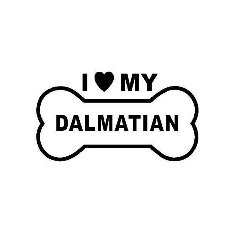 12.5cm*7cm Car Styling Personality I Love My Dalmatian Dog Sticker C5-1242