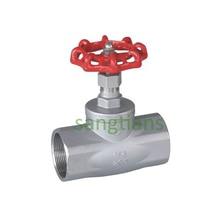 Threaded globe valve,American Standard cut-off valve,stainless steel  shut off valve,DN25 SS304,dn15-dn50