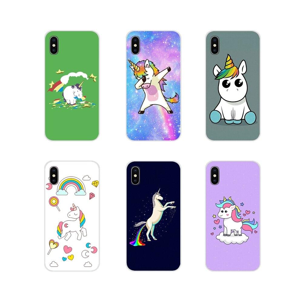 Para Xiaomi Redmi 4A S2 Note 3 3S 4 4X 5 Plus 6 7 6A Pro Pocophone F1 caballo Unicornio en arcoíris PC suave funda de silicona para teléfono