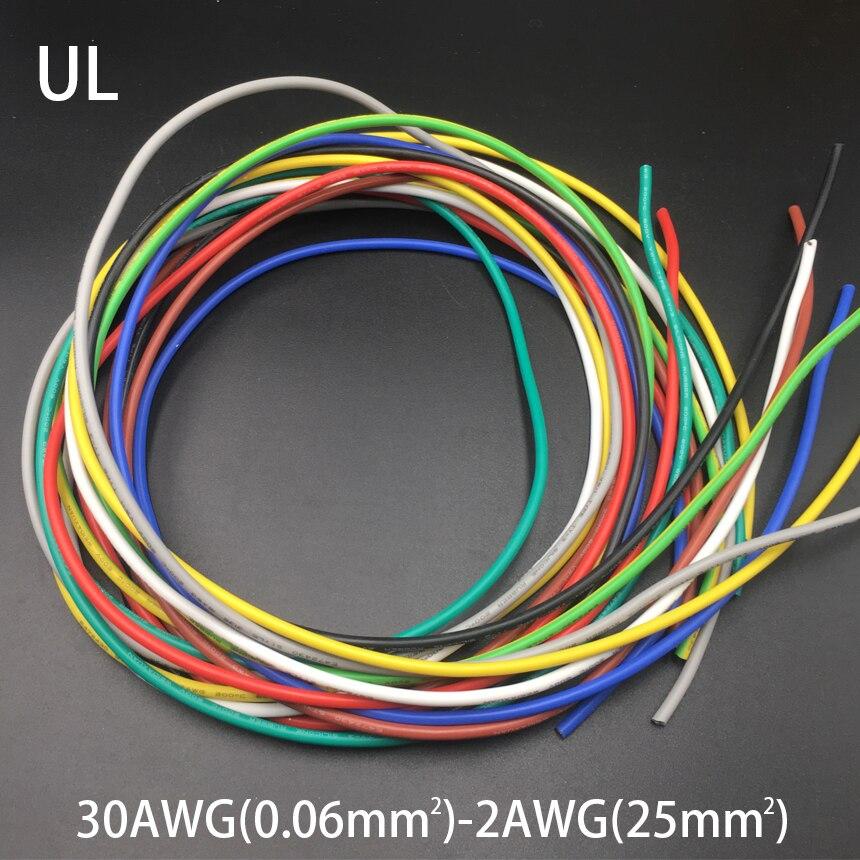 1M 4AWG 25mm2 600V 200C 0,08mm UL envoltura de cobre estañado aislamiento de goma de silicona LED OK SR trenzado Cable