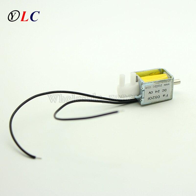 Mini válvula de solenoide Mini 24V DC 120mA liberación de Gas de aire escape desanimado 2 posiciones 3 vías Fa0520F