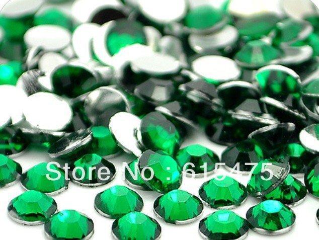 5mm Emerald Color SS20 crystal Resin rhinestones flatback,Nail Art Rhinestones,30,000pcs/bag