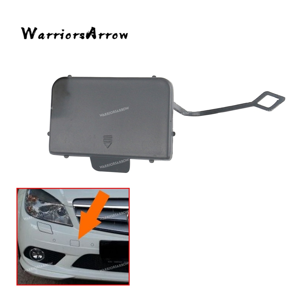 Warriorsarrow unpainted amortecedor dianteiro tow eye hook capa para mercedes-benz w204 c200 c250 c300 c350 2008-2011 2048850126
