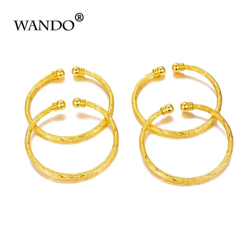 WANDO, 4 шт., рождественский подарок, маленький браслет для девочек/детский золотой браслет-Талисман из бусинок, маленький колокольчик/украшен...