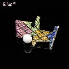 Broches de perro pug de cristal colorido lindo RHao broches para Mujeres Hombres traje de corsage niñas niños sombreros ropa broche de joyería de boda pines