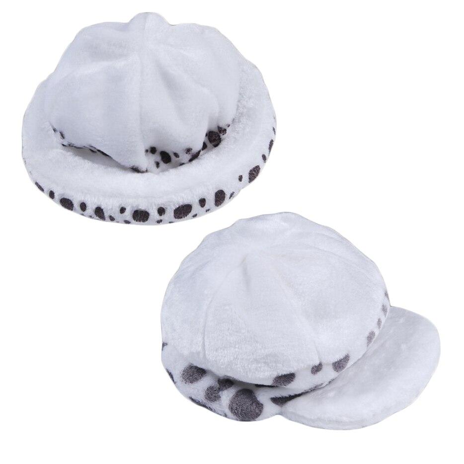 2 estilos Anime una pieza Trafalgar Ley sombrero disfraces de cosplay blancos lugar felpa casual tapa
