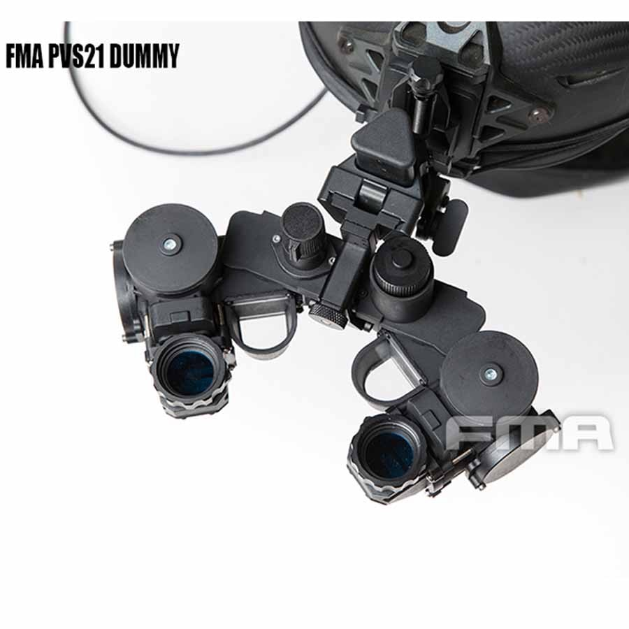 FMA New Tactical Airsoft Helmet PVS21 Night Vision Goggles NVG DUMMY Model Black TB1300