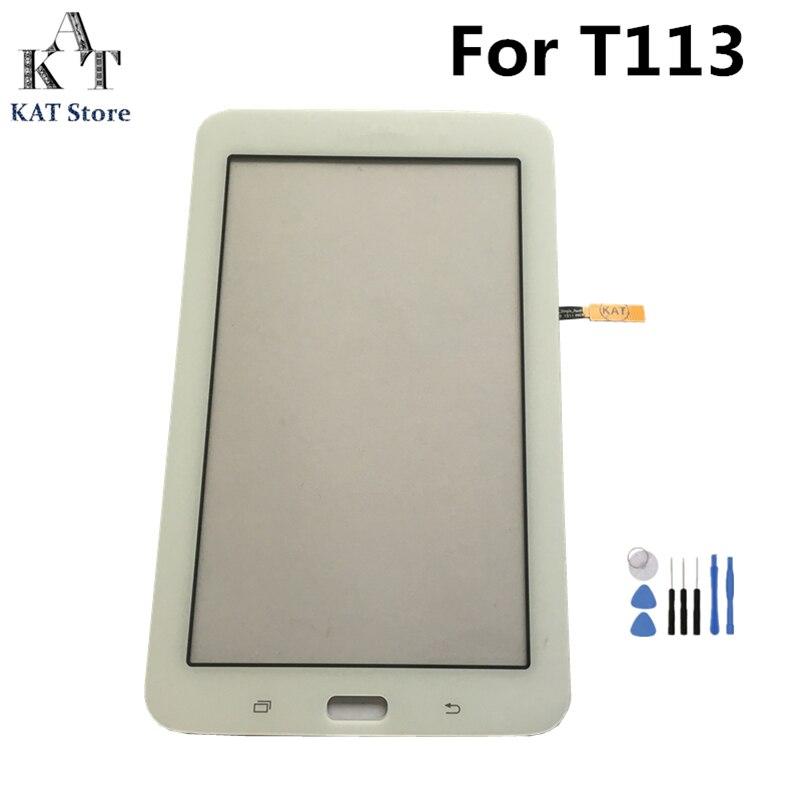 Para Samsung Galaxy Tab 3 Lite 7,0 SM-T110 T111 T113 T114 T113NU T116 Digitalizador de pantalla táctil reemplazo de la pantalla LCD parte + herramientas